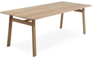 Crafty egetræsbord hvidolieret