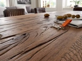 planke spisebord eg