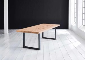 egetræsbord lys