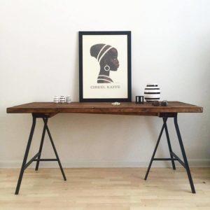 Skrivebord i planker 130x73