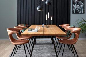 Skovby Oakville plankebord med stole